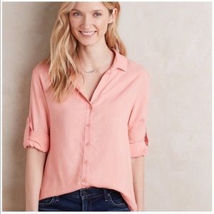 Cloth & Stone || Living Coral Asbury Button Up XS
